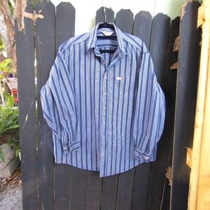 Carhartt striped button down rugged outdoor wear